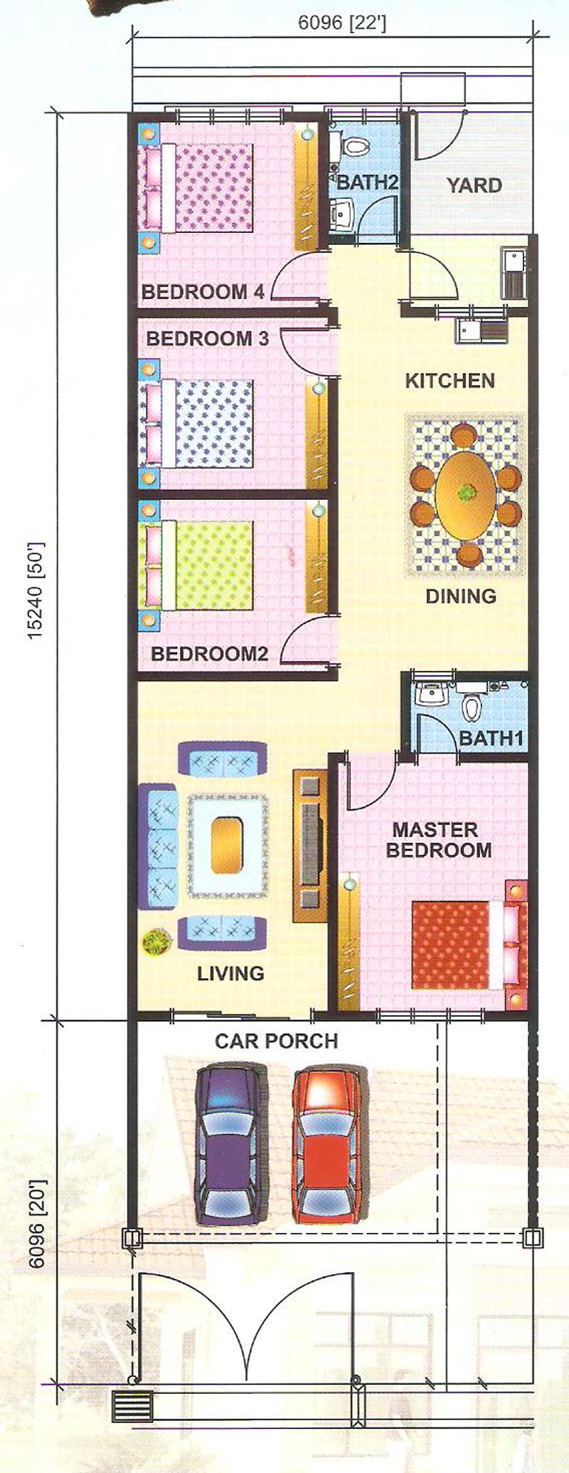 Taman-bukit-katil-pertmai-Terrace-House-single-floor